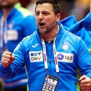 Voller Emotionen: Ljubomir Vranjes, Trainer von Slowenien, bei der Handball-EM