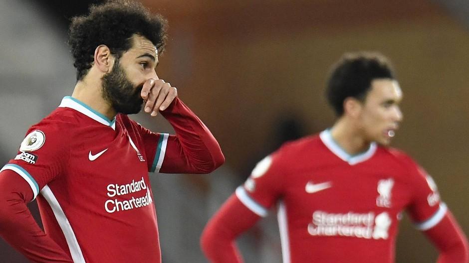 Enttäuschung in Liverpool: Mohamed Salah (links) und Trent Alexander-Arnold nach der Niederlage gegen Burnley