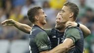 Deutsche Fußballer im Traumfinale gegen Brasilien