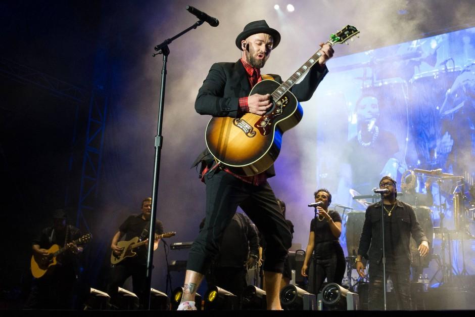 Auch das gibt es in Austin: Justin Timberlake bei einem Konzert am Tag vor dem Rennen.