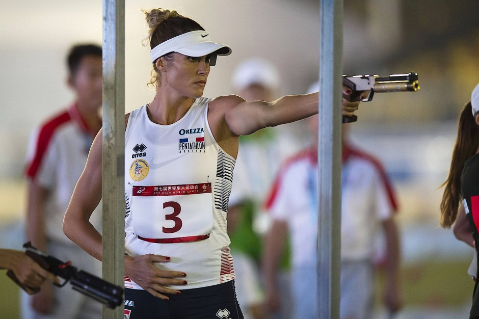 Die frühere Fünfkampf-Weltmeisterin Elodie Clouvel aus Frankreich soll sich in Wuhan infiziert haben.
