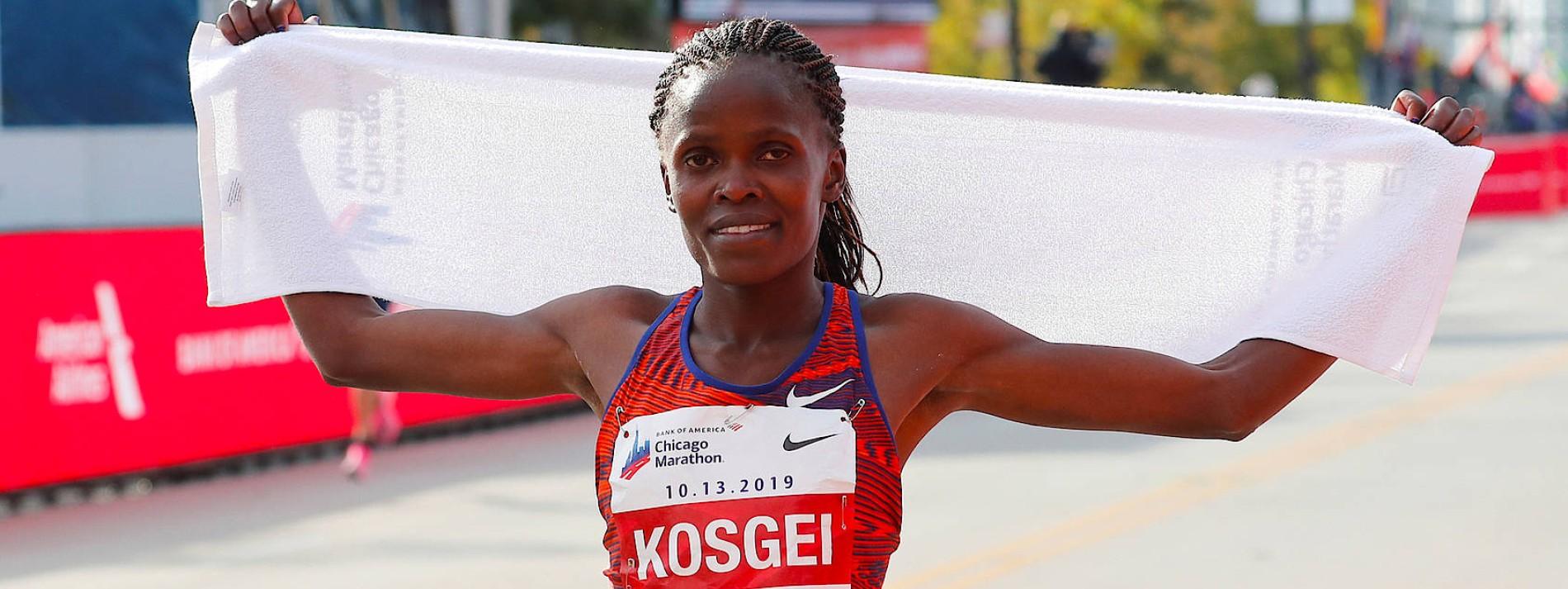 Brigid Kosgei läuft Weltrekord