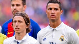 Respektlos? Cristiano Ronaldo (rechts) hält sich vielleicht nicht nur körperlich für den Größeren im Vergleich zu Luka Modric