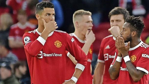 Der schlimme Einbruch von Manchester United