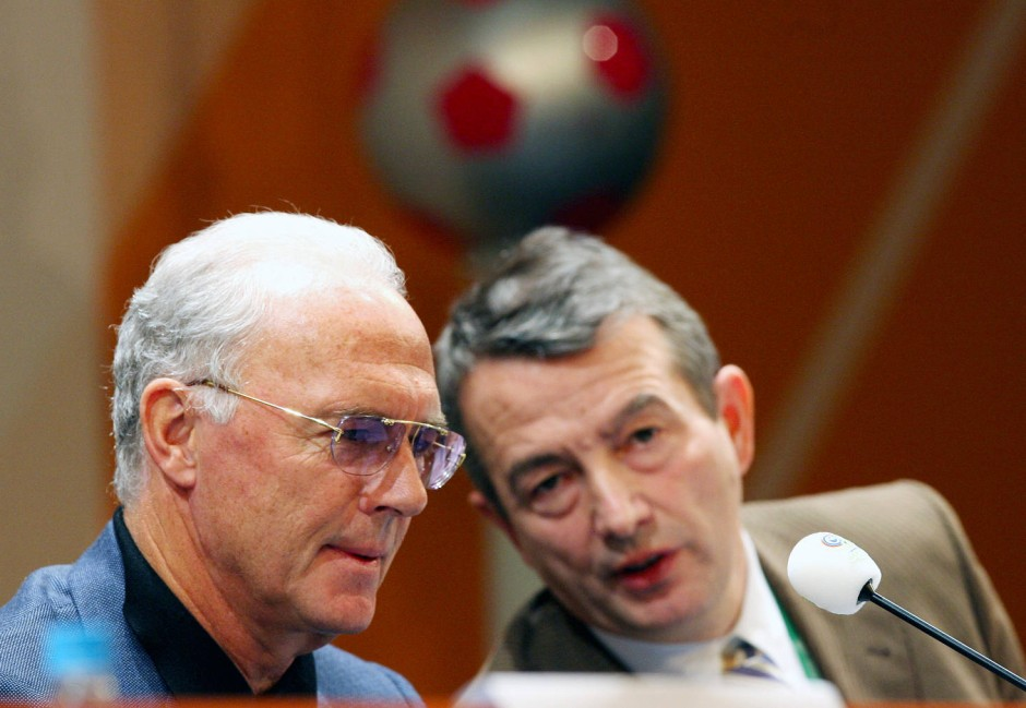 Franz Beckenbauer (links) war Chef des Organisationskomitees, Wolfgang Niersbach Vizepräsident.