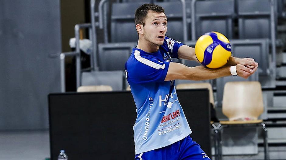 Der Volleyball-Profi: Fabian Sagstetter im Trikot der Heitec Volleys Eltmann