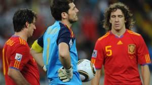 Spanien scheitert an Hitzfelds Wand