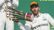 Auf einmal ist alles ganz leicht für Sieger Lewis Hamilton.