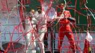 Zwei gegen einen: Mercedes dominiert auch das Podium gegen Ferrari