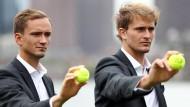 Alexander Zverev (r.) und Daniil Medwedew treten für Team Europe an