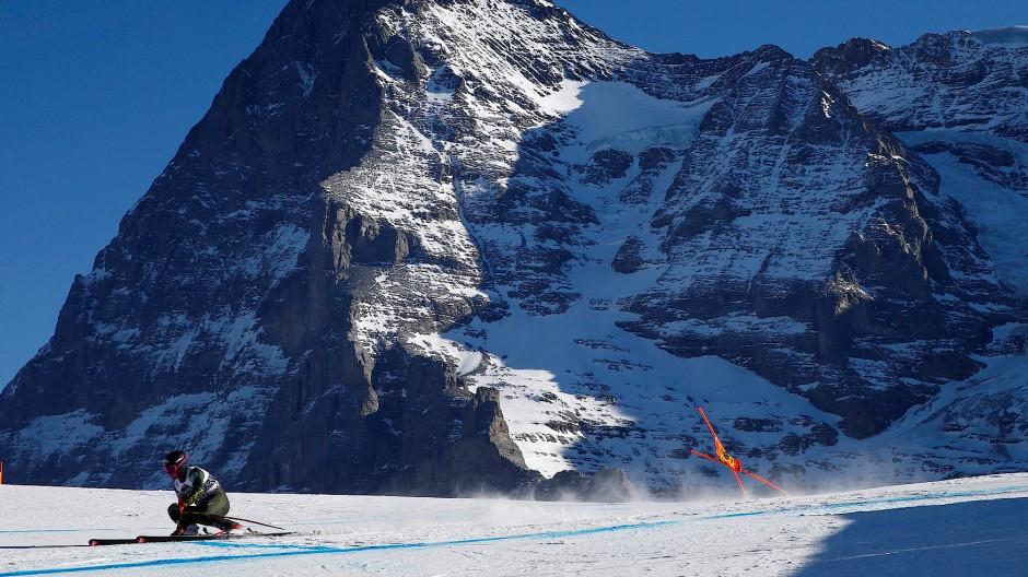 Skirennen vor einzigartiger Bergwelt: Lauberhorn-Abfahrt in Wengen.