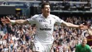 Hatte in der vergangenen Saison viel Grund zum Jubeln: Gareth Bale wurde mehrfach als bester Spieler der englischen Premier League ausgezeichnet