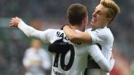 Getroffen: Thorgan Hazard bringt Mönchengladbach in Führung