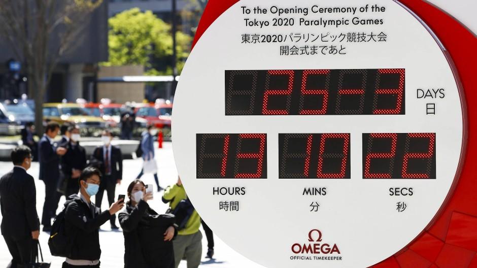 Kein Countdown mehr: Die Olympia-Uhr hat erst einmal aufs aktuelle Datum umgestellt.
