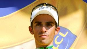 Contador im Gelben Trikot nach Paris