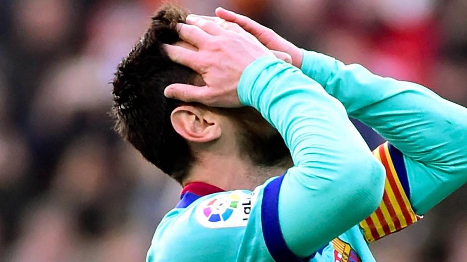 Nicht zu fassen: Lionel Messi und Barcelona verlieren in Valencia.