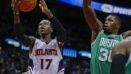 Bestleistung in der NBA – bis jetzt: Dennis Schröder (links)