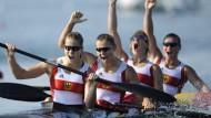 Golden Girls: Conny Wassmuth, Katrin Wagner-Augustin, Nicole Reinhardt und Fanny Fischer (v.r.)