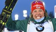 """Ich bin sprachlos"": Laura Dahlmeier holt trotz einiger Probleme doch noch WM-Bronze."