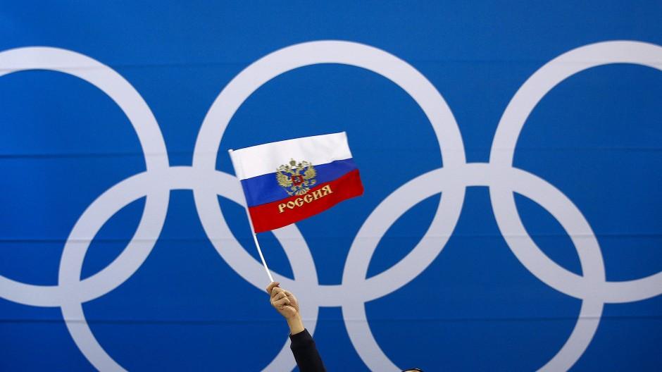 Nicht erlaubt: Russische Flagge bei Olympia