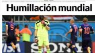 Das Bild von Iker Casillas reicht eigentlich als Übersetzung: Spanien ist gedemütigt