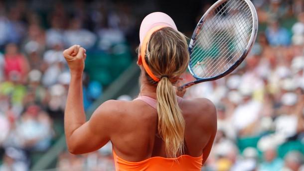 Maria Scharapowa gewinnt in Roland Garros