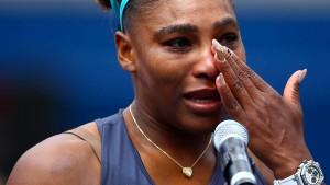 Die Tränen der Serena Williams