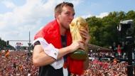 Weltmeister: Kevin Grokreutz am 15. Juli 2014 in Berlin