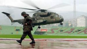 SFOR-Soldaten retten Länderspiel