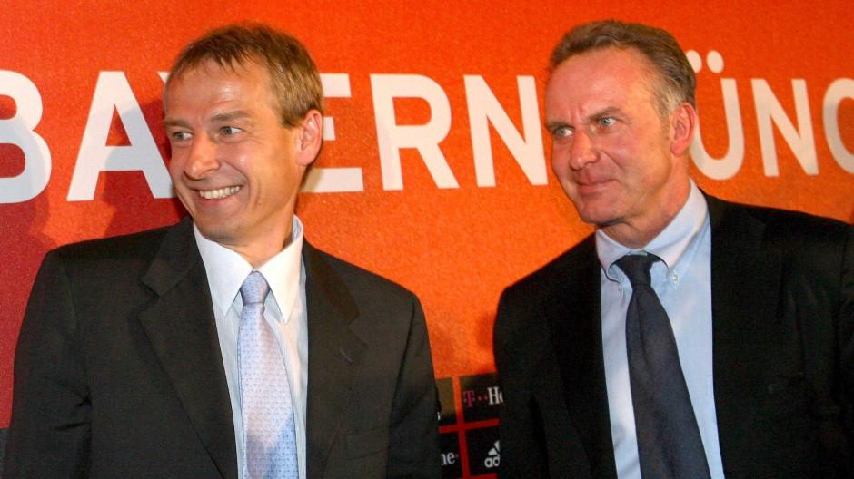 Vorstellung im Jahr 2008: Jürgen Klinsmann (links) und Karl-Heinz Rummenigge
