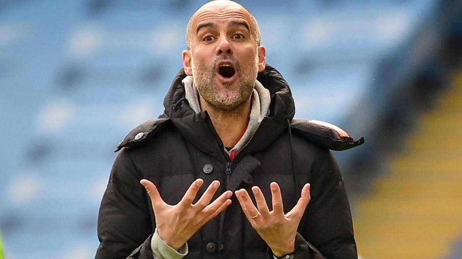 Wollte es nicht glauben: City-Coach Pep Guardiola