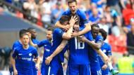 Blaue Jubeltraube: Chelsea freut sich aufs Finale