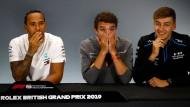 Gegenwart und Zukunft: Weltmeister Lewis Hamilton mit seinen Landsmännern Lando Norris und George Russell (von links)