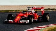 """Formel-1-Pilot mit """"Heiligenschein"""": Der schwarze Bügel über dem Helm ist die entscheidende Neuerung"""