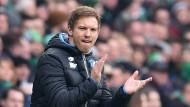 Junger Mann zum Mitreisen gesucht und gefunden: Julian Nagelsmann gelingt zum Debüt mit Hoffenheim ein Remis in Bremen