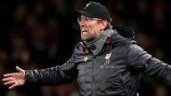 """""""Das ist nicht sehr cool"""": Liverpool-Trainer Jürgen Klopp."""