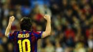 Der derzeit wohl beste Fußballspieler der Welt: Lionel Messi vom FC Barcelona