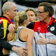 Man kennt sich aus dem Fed-Cup-Team: Dirk Dier (rechts) und Angelique Kerber