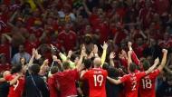 Als Gemeinschaft stark: Team Wales und seine Fans.