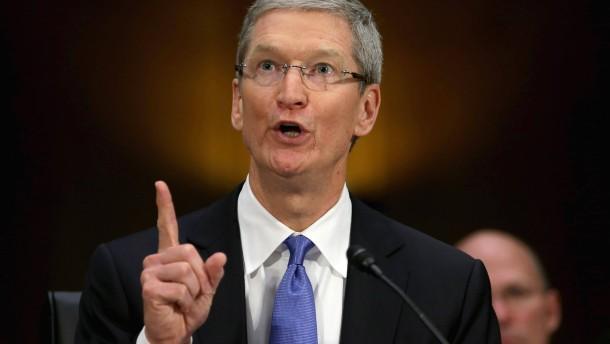 Apple-Chef verteidigt Steuerpraktiken