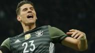 Mario Gomez kommt auch in der Nationalmannschaft auch wieder in Schwung.