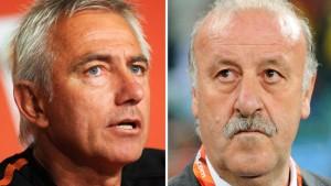 Kartenspieler van Marwijk gegen Lokführer del Bosque
