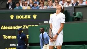 Zverev ist doch noch zu grün für Wimbledon