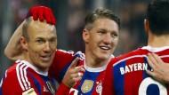 Bayern-Sieg bei Schweinsteiger-Rückkehr