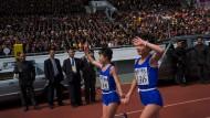 Der Kim Il Sung Marathon in Nordkorea