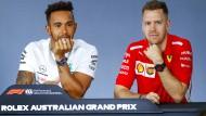 Sebastian Vettel (rechts) neben Lewis Hamilton: die beiden wohl größten Konkurrenten in der neuen Formel-1-Saison.