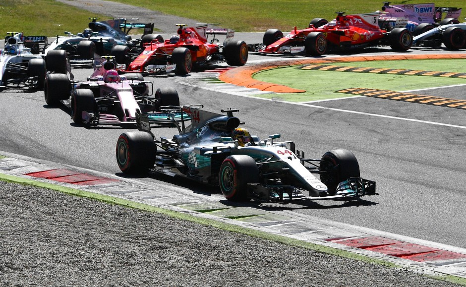 Von Anfang an vorneweg: Lewis Hamilton