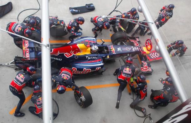 Makellos: Die Boxenarbeit von Vettels Mannschaft