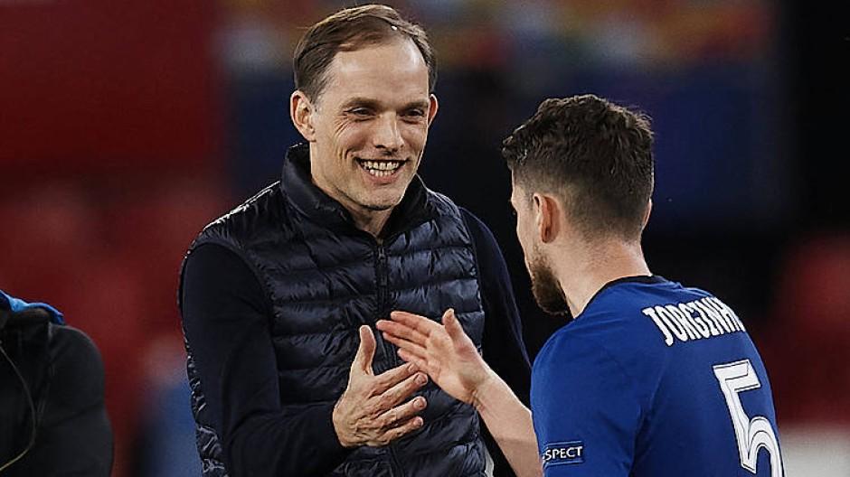Im Halbfinale: Chelsea-Trainer Tuchel bedankt sich bei seinen Spielern.