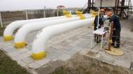 Hoffnung: Lieferkrisen von Gas, das durch die Ukraine geführt wird, soll es nicht mehr geben